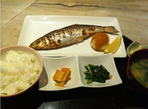 ニシン焼き魚定食